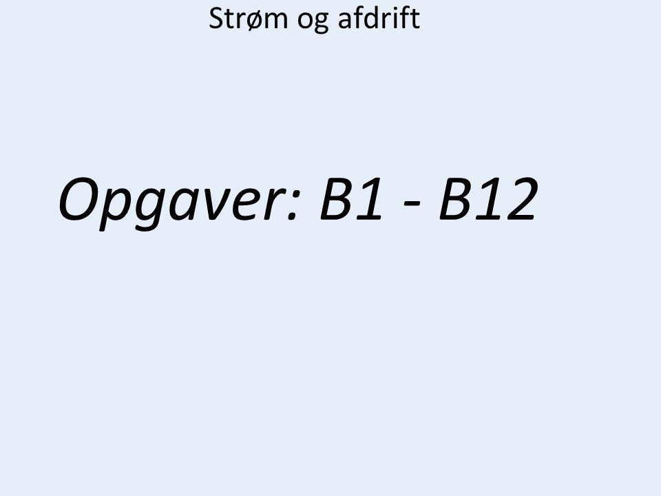 Strøm og afdrift Opgaver: B1 - B12