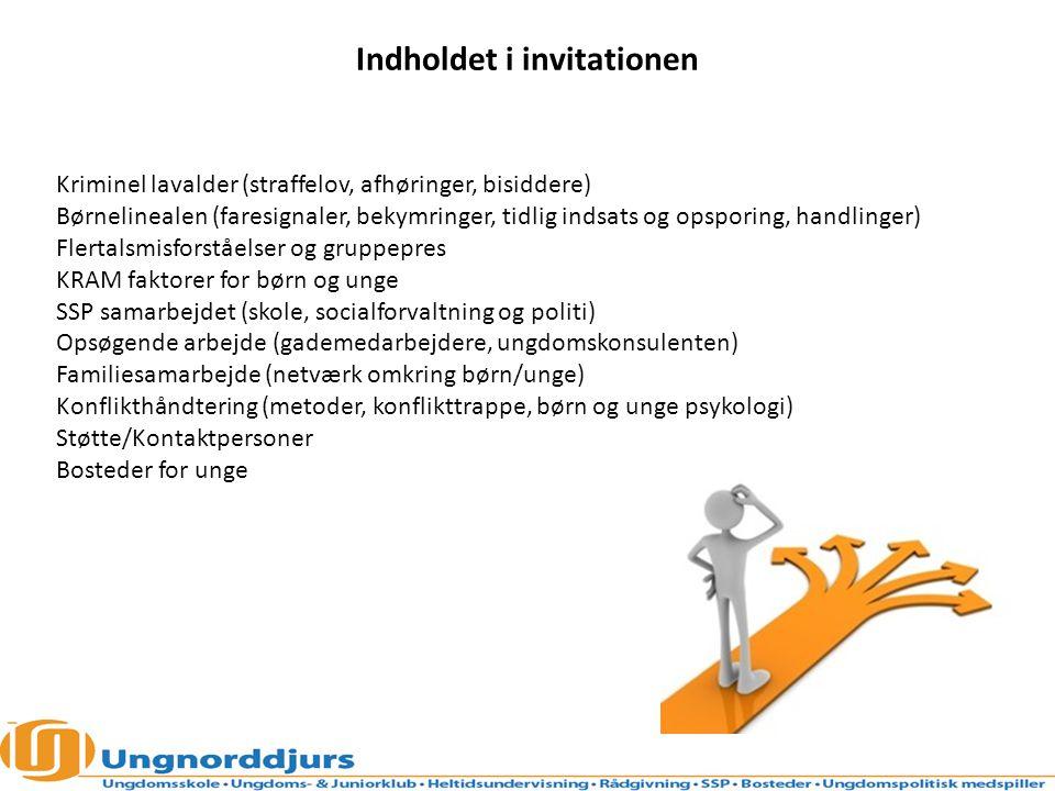 Indholdet i invitationen