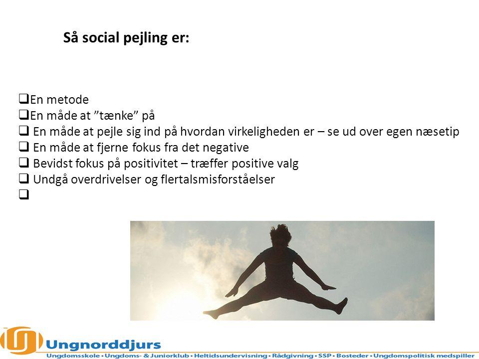 Så social pejling er: En metode En måde at tænke på