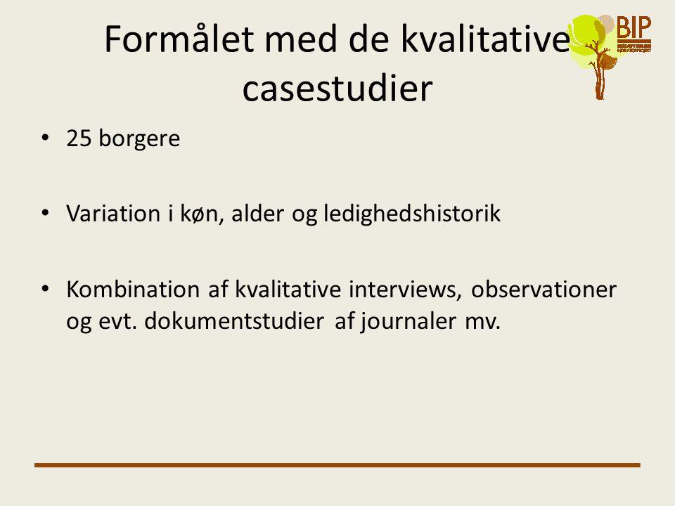 Formålet med de kvalitative casestudier