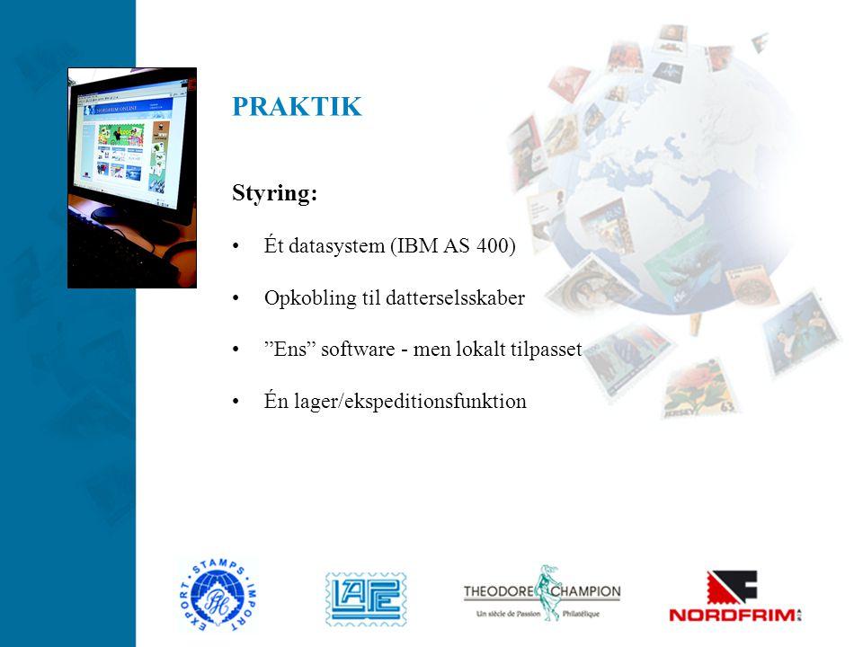 PRAKTIK Styring: Ét datasystem (IBM AS 400)