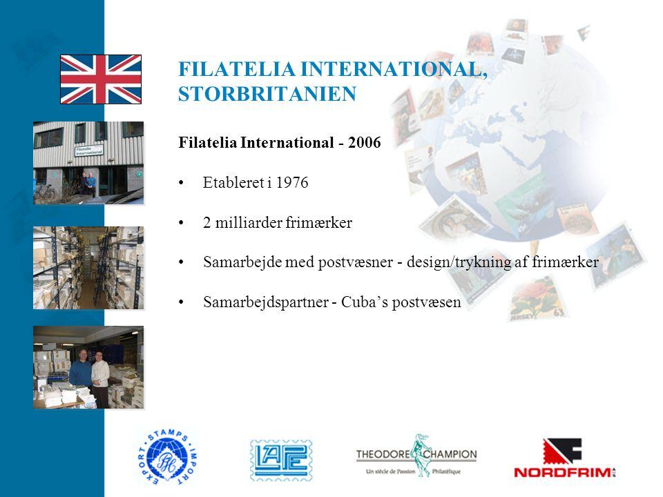FILATELIA INTERNATIONAL, STORBRITANIEN