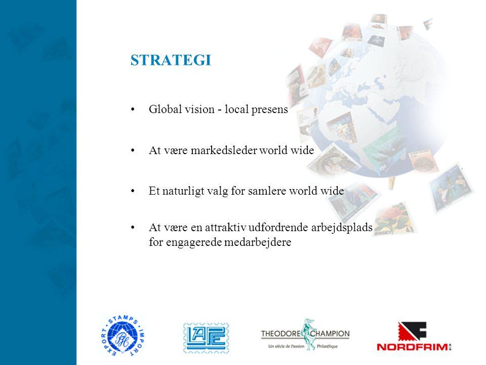 STRATEGI Global vision - local presens At være markedsleder world wide