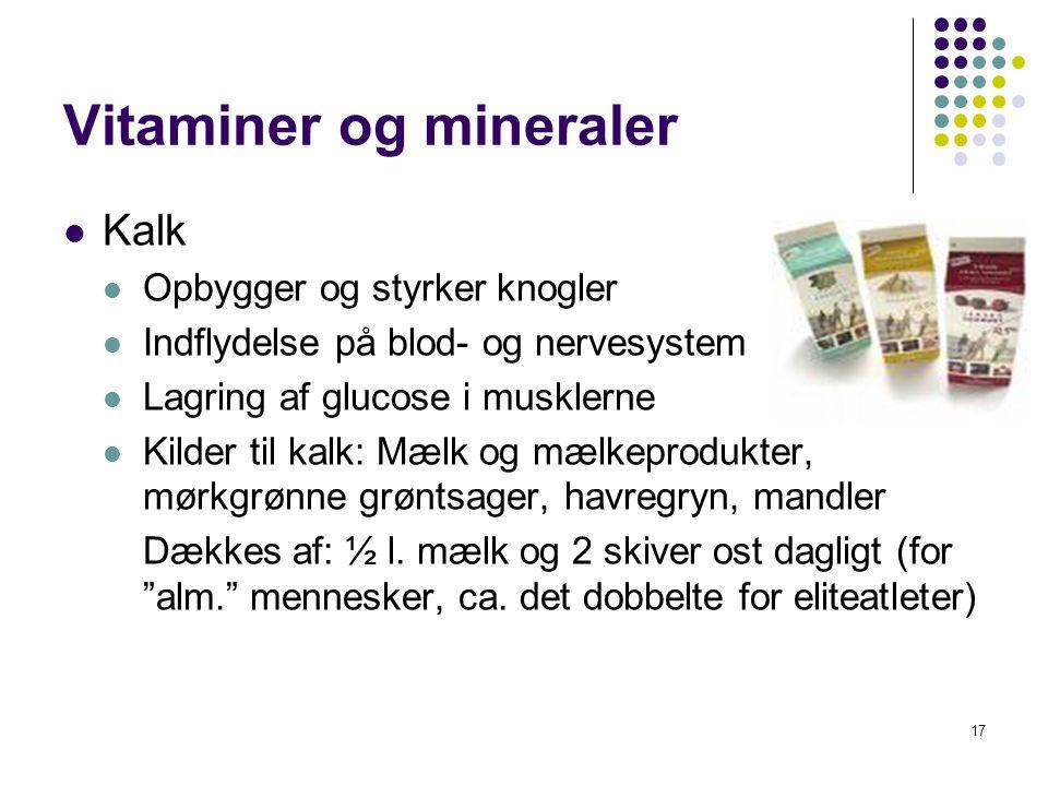 Vitaminer og mineraler