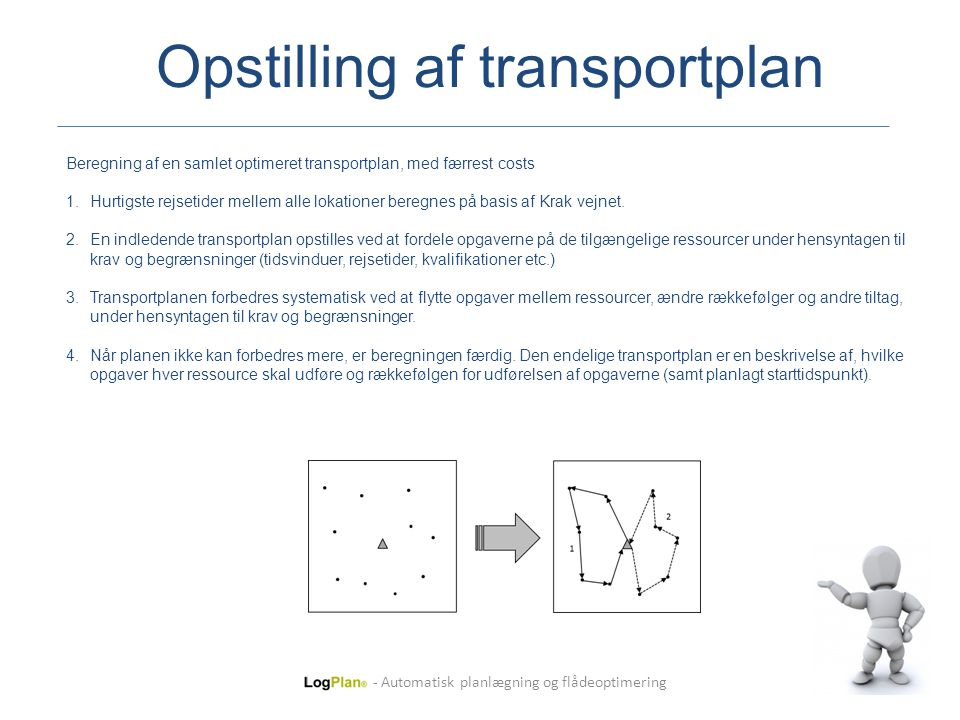 Opstilling af transportplan