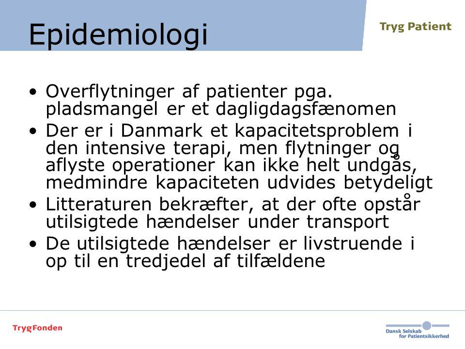 Epidemiologi Overflytninger af patienter pga. pladsmangel er et dagligdagsfænomen.