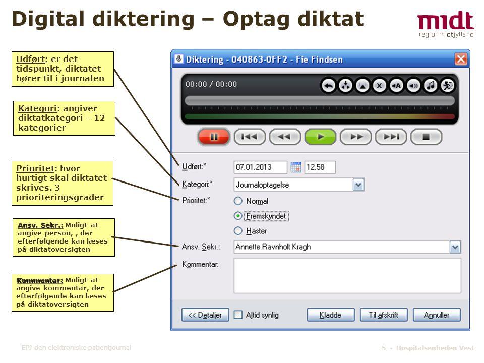 Digital diktering – Optag diktat