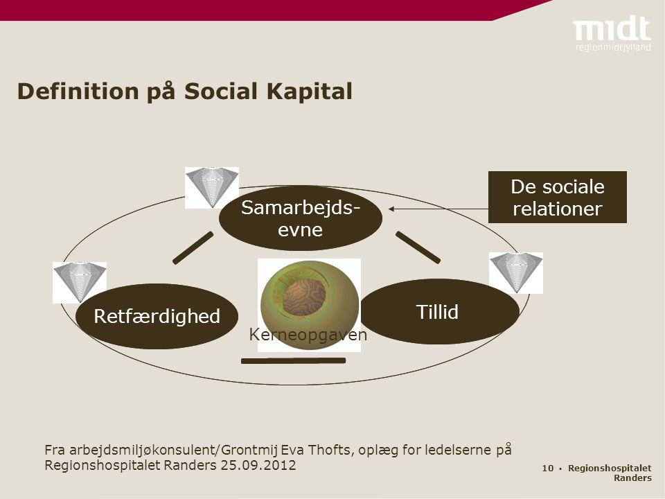 Definition på Social Kapital