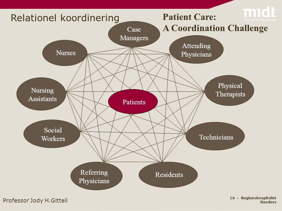 Relationel koordinering Patient Care: A Coordination Challenge