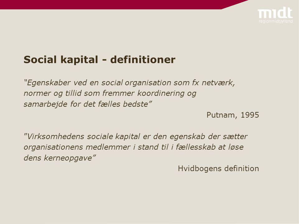 Social kapital - definitioner