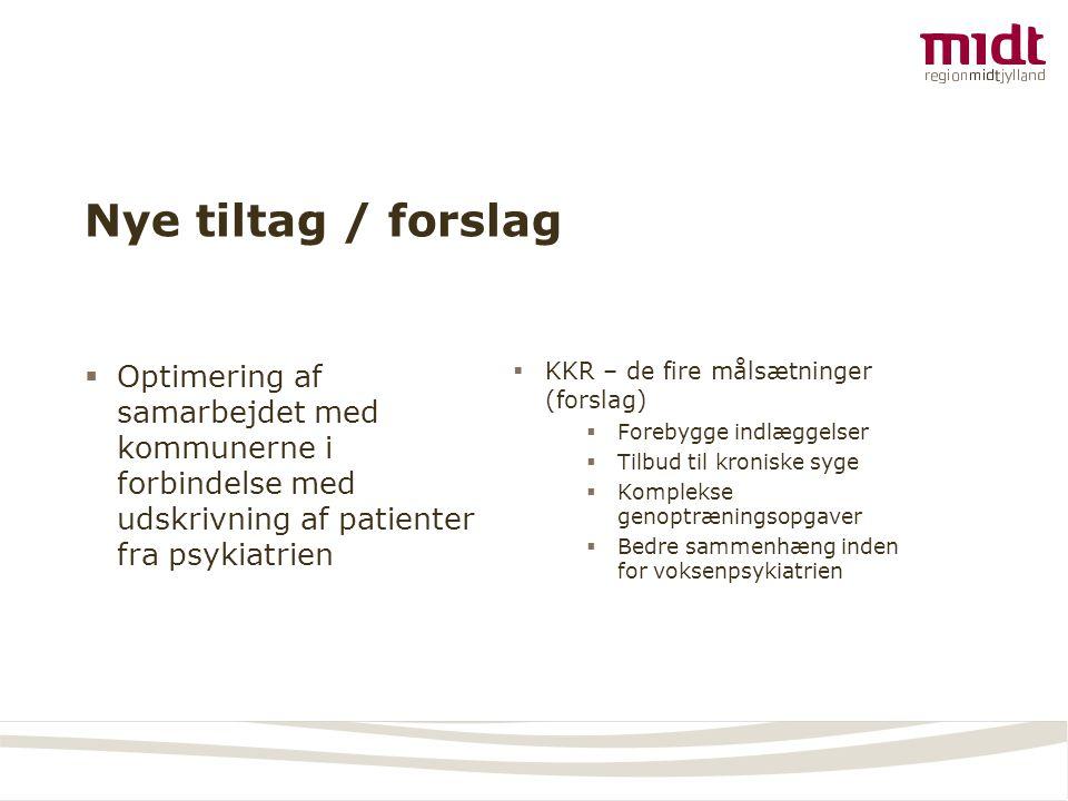 Nye tiltag / forslag Optimering af samarbejdet med kommunerne i forbindelse med udskrivning af patienter fra psykiatrien.
