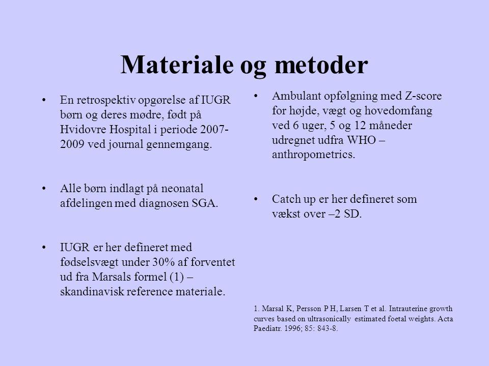 Materiale og metoder