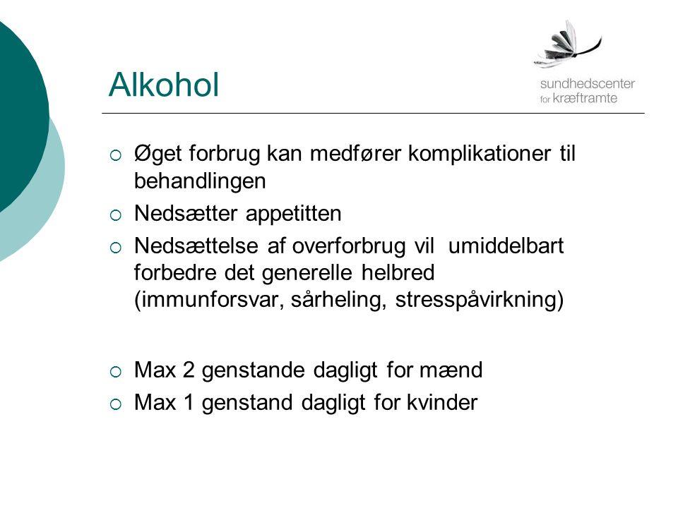 Alkohol Øget forbrug kan medfører komplikationer til behandlingen