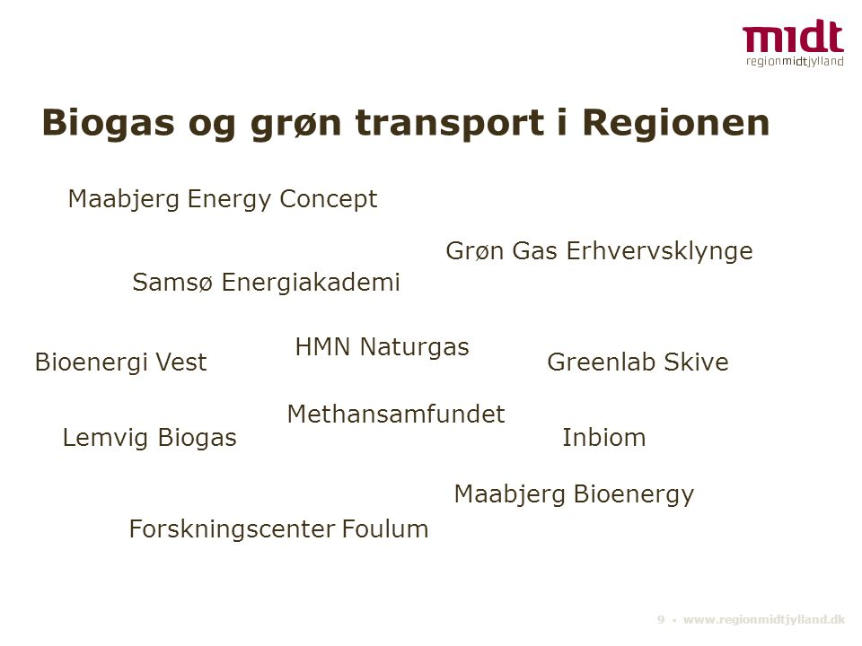 Biogas og grøn transport i Regionen