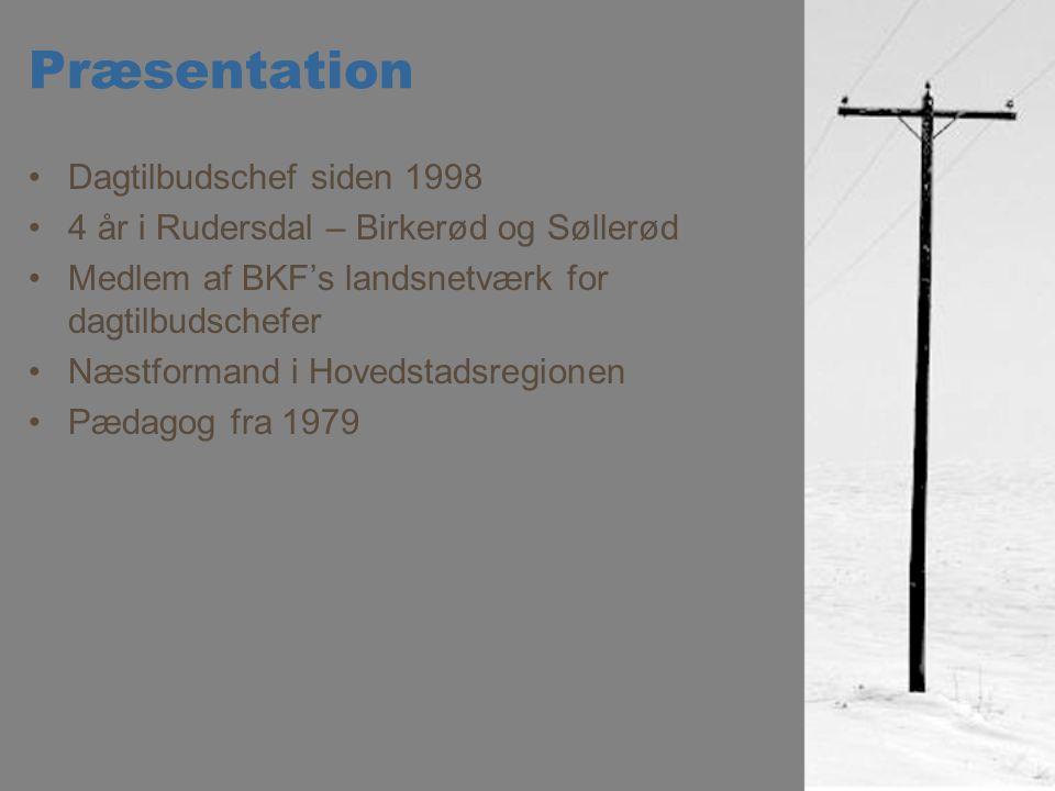 Præsentation Dagtilbudschef siden 1998