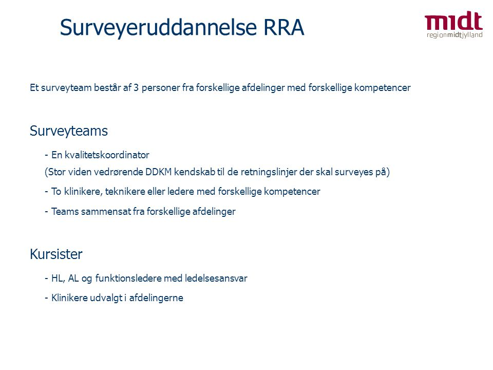Surveyeruddannelse RRA