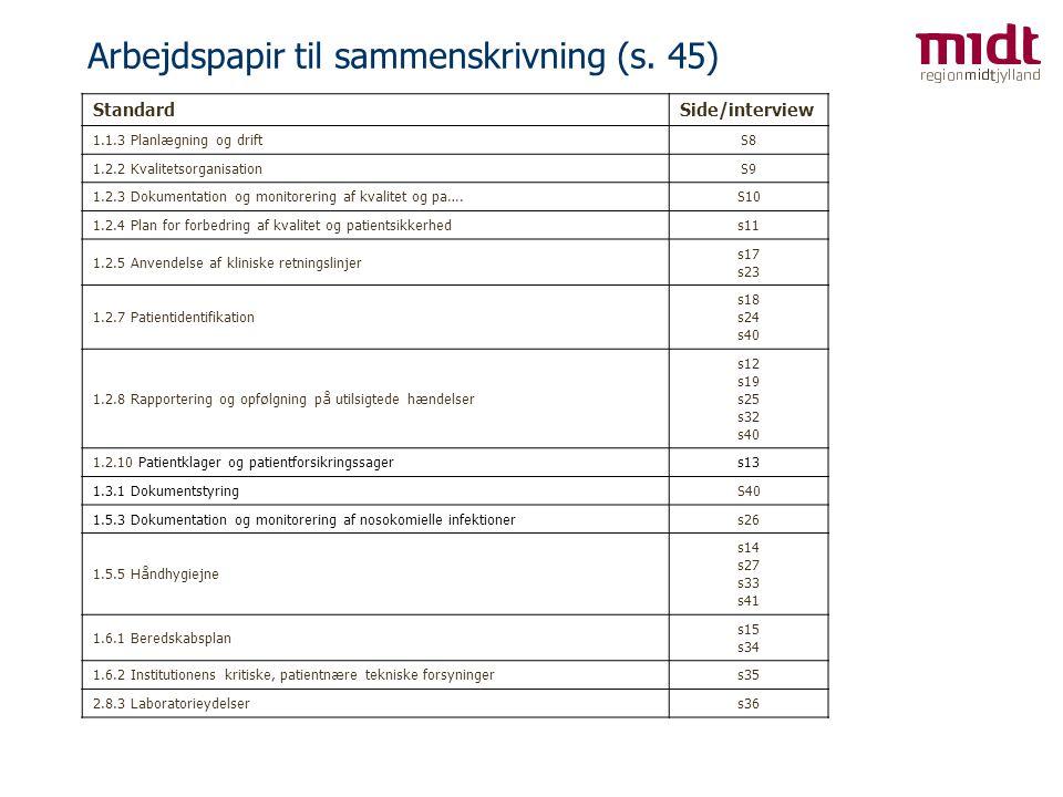 Arbejdspapir til sammenskrivning (s. 45)