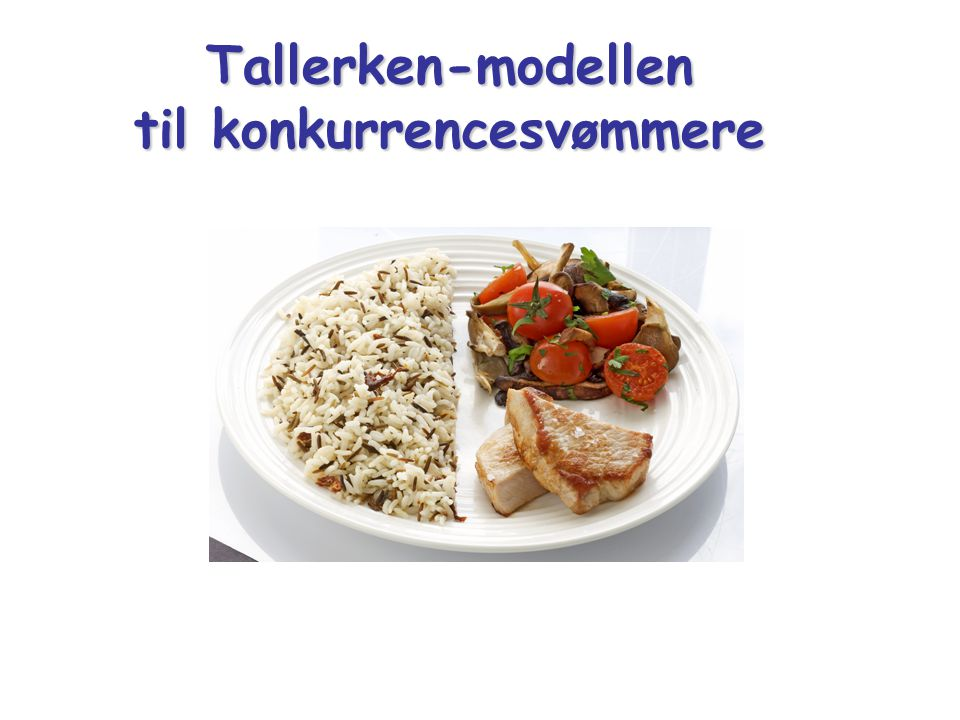 Tallerken-modellen til konkurrencesvømmere