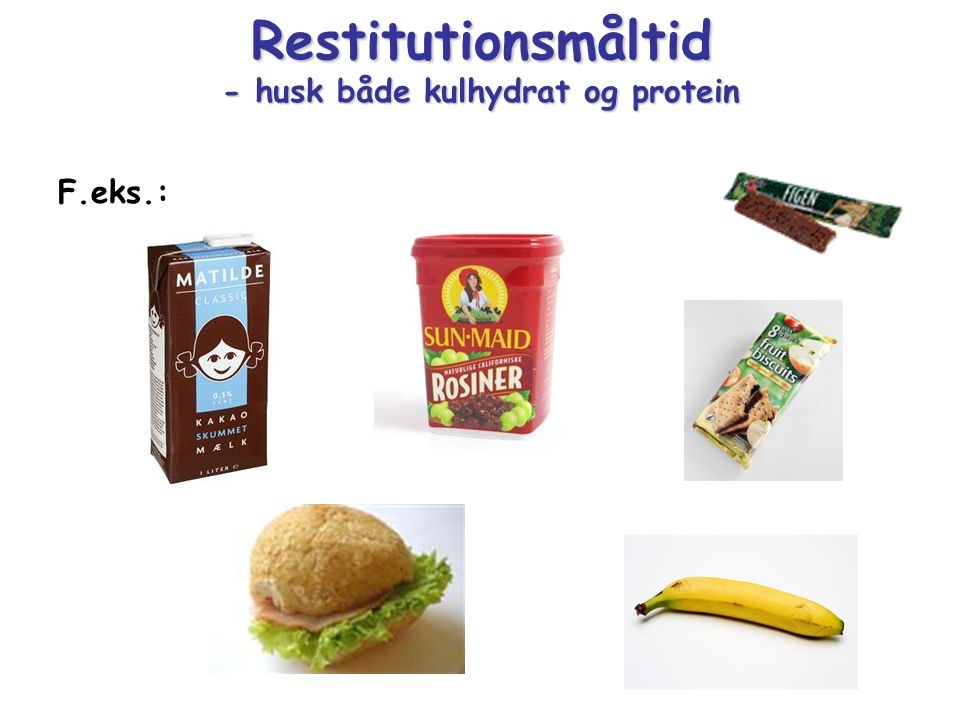Restitutionsmåltid - husk både kulhydrat og protein