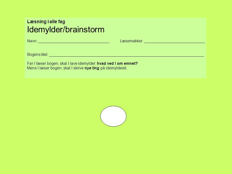Idemylder/brainstorm