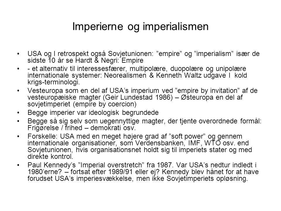 Imperierne og imperialismen