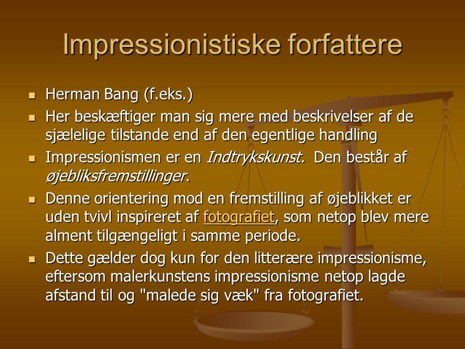 Impressionistiske forfattere