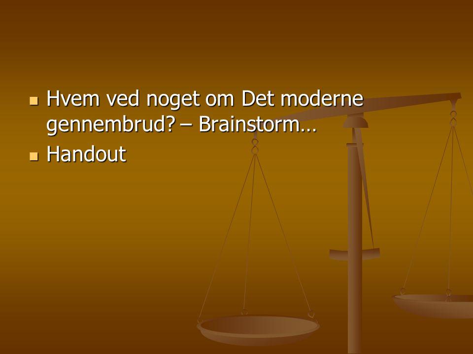 Hvem ved noget om Det moderne gennembrud – Brainstorm…