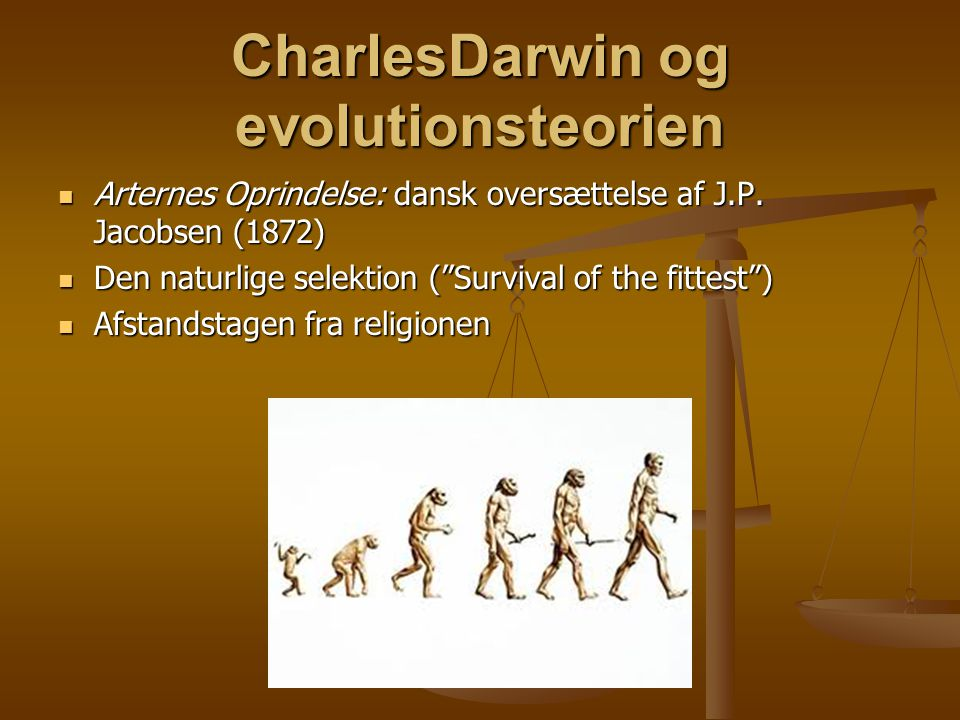 CharlesDarwin og evolutionsteorien