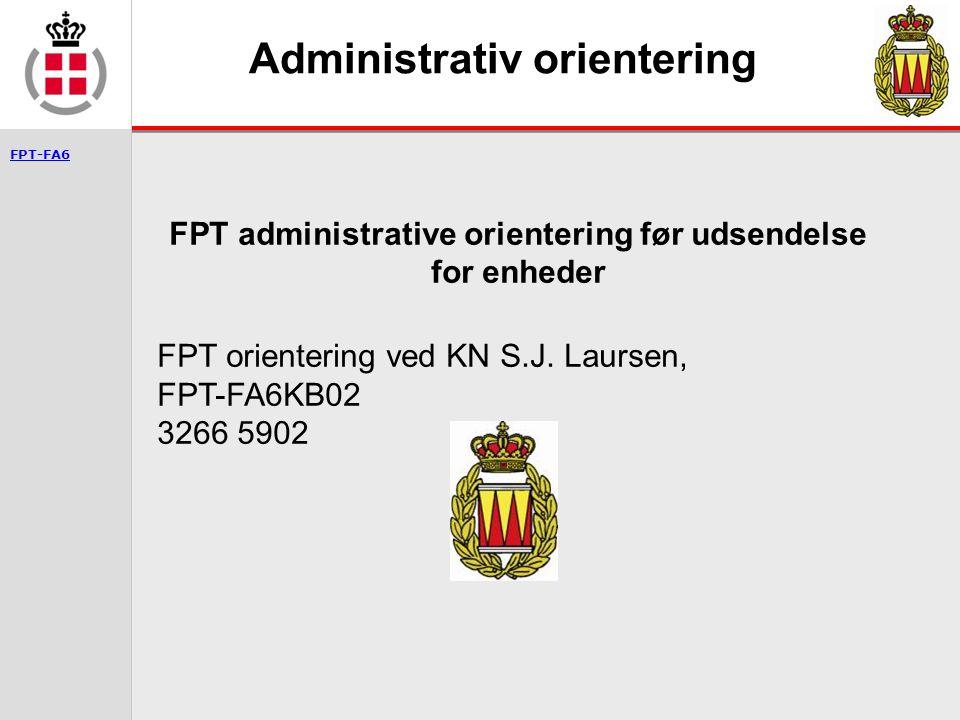 Administrativ orientering