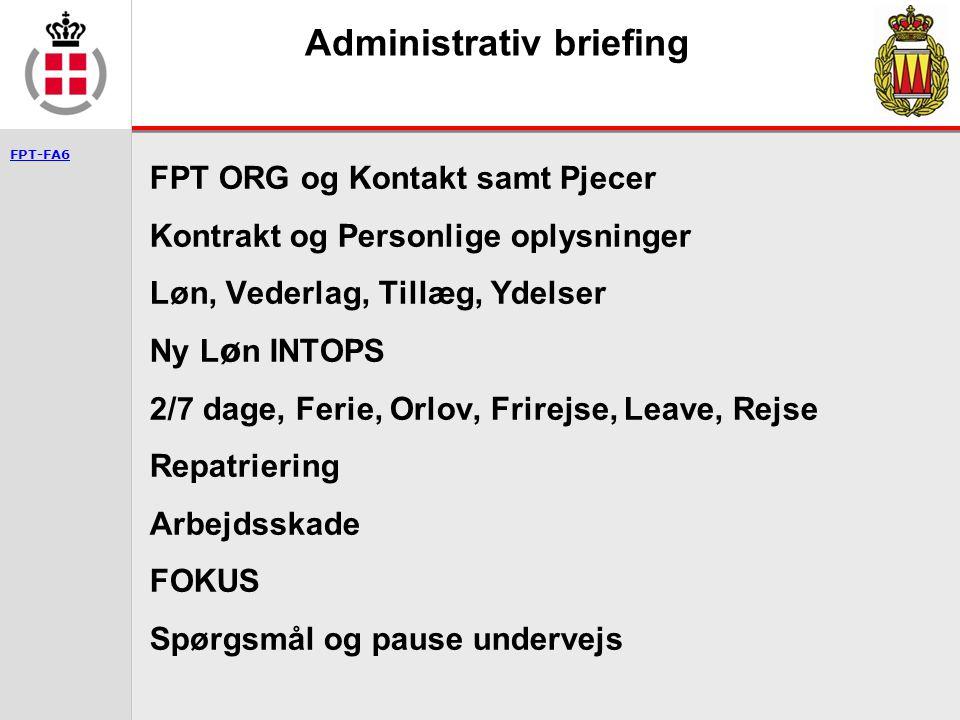Administrativ briefing