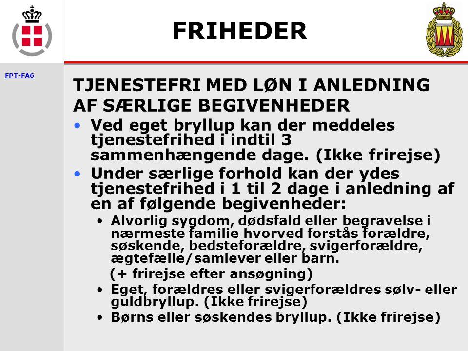 FRIHEDER TJENESTEFRI MED LØN I ANLEDNING AF SÆRLIGE BEGIVENHEDER