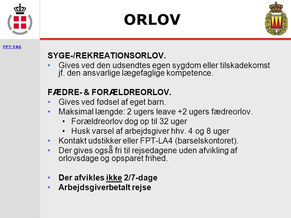 ORLOV SYGE-/REKREATIONSORLOV.