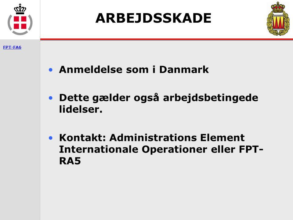 ARBEJDSSKADE Anmeldelse som i Danmark