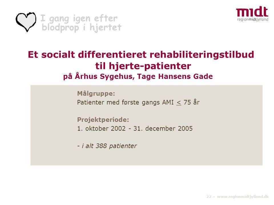 til hjerte-patienter Et socialt differentieret rehabiliteringstilbud
