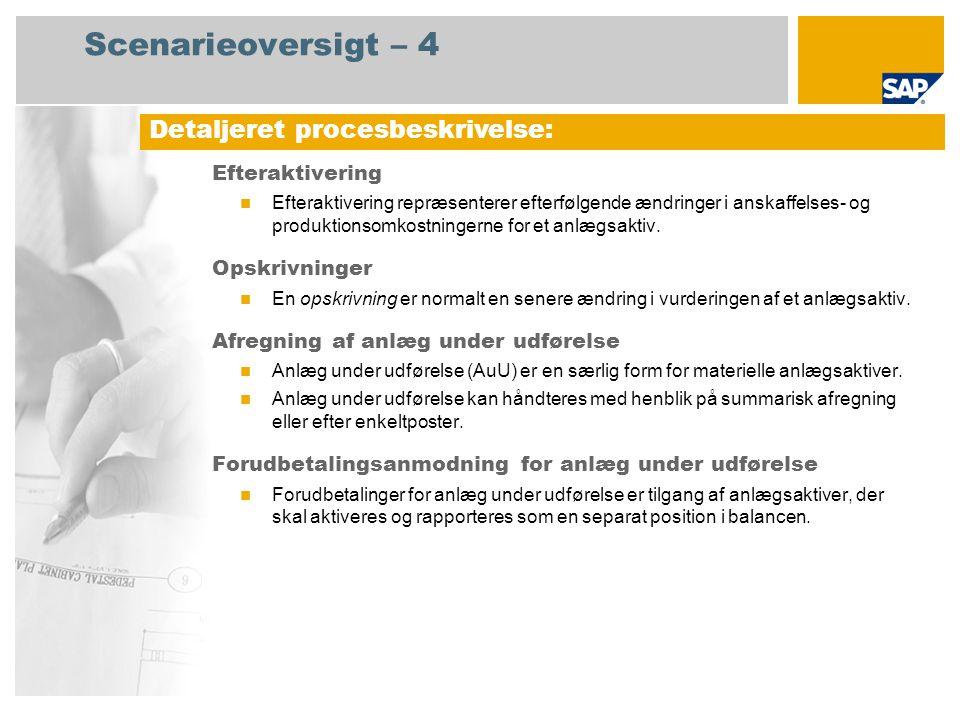 Scenarieoversigt – 4 Detaljeret procesbeskrivelse: Efteraktivering