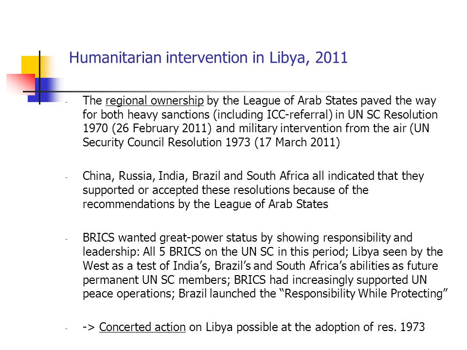 Humanitarian intervention in Libya, 2011