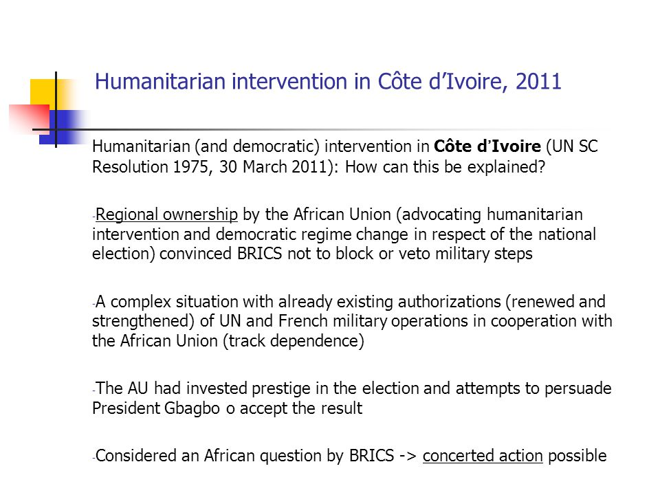 Humanitarian intervention in Côte d'Ivoire, 2011