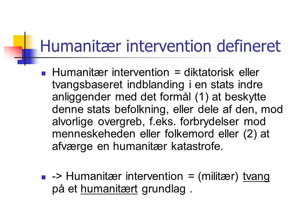 Humanitær intervention defineret