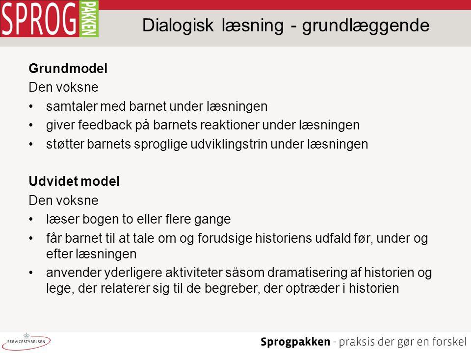 Dialogisk læsning - grundlæggende