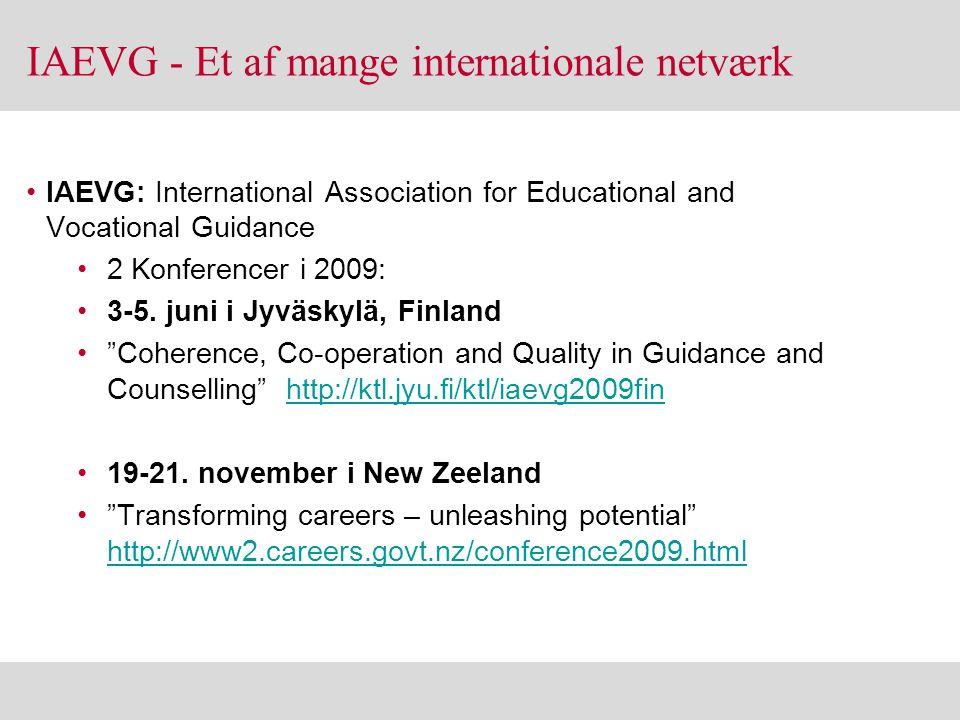IAEVG - Et af mange internationale netværk