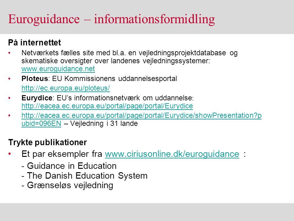 Euroguidance – informationsformidling
