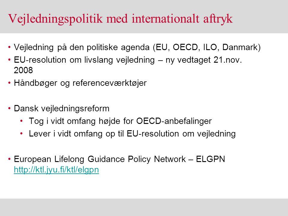 Vejledningspolitik med internationalt aftryk