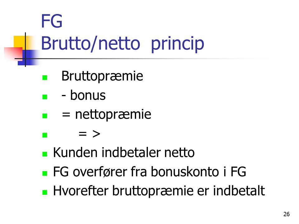 FG Brutto/netto princip