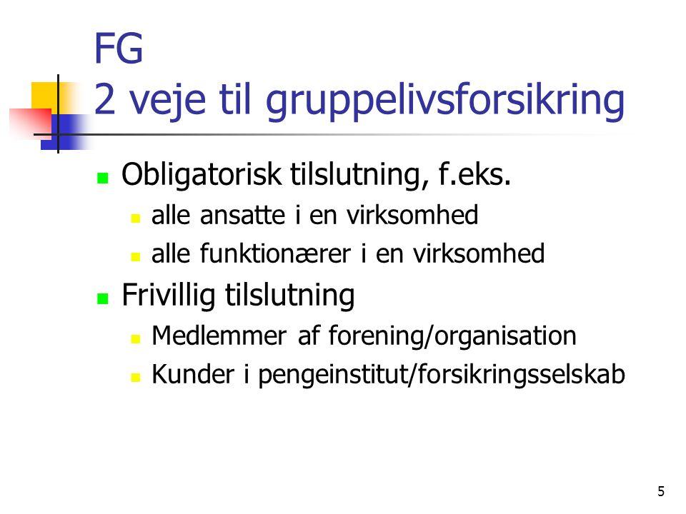FG 2 veje til gruppelivsforsikring