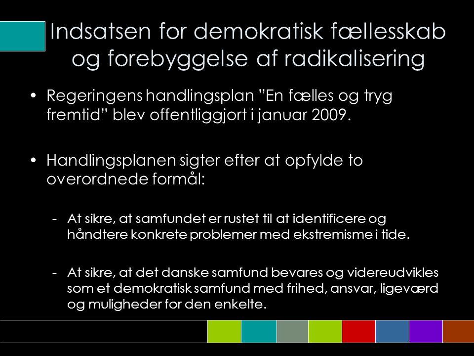 Indsatsen for demokratisk fællesskab og forebyggelse af radikalisering