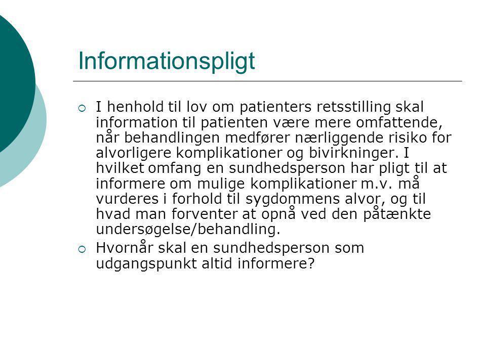 Informationspligt