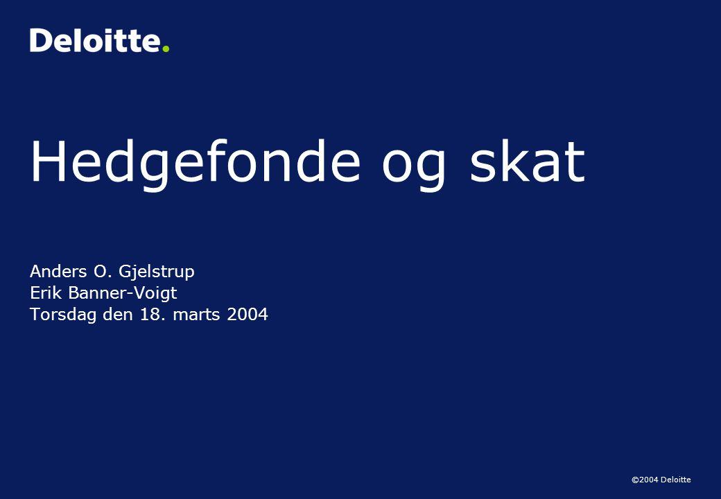 Anders O. Gjelstrup Erik Banner-Voigt Torsdag den 18. marts 2004