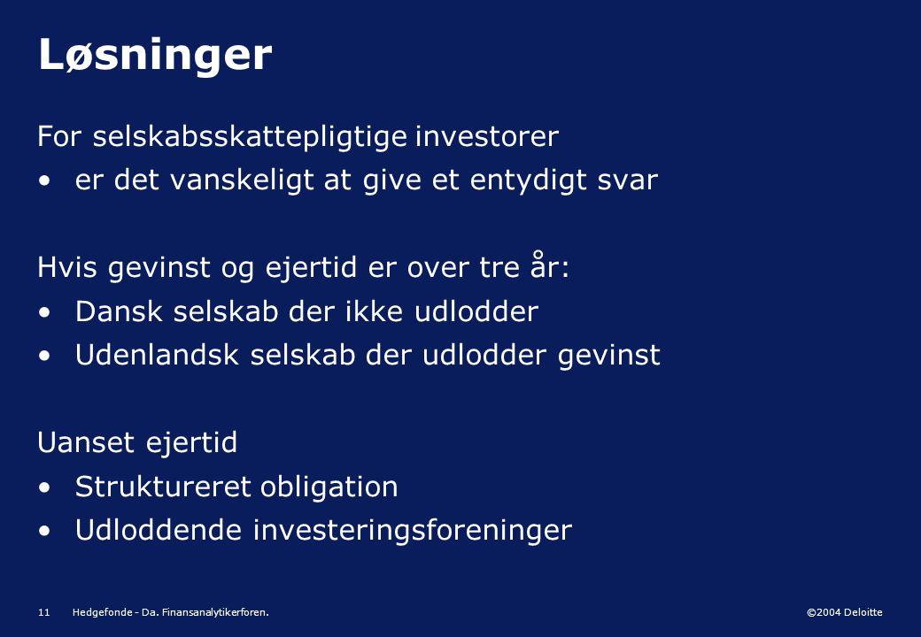 Løsninger For selskabsskattepligtige investorer