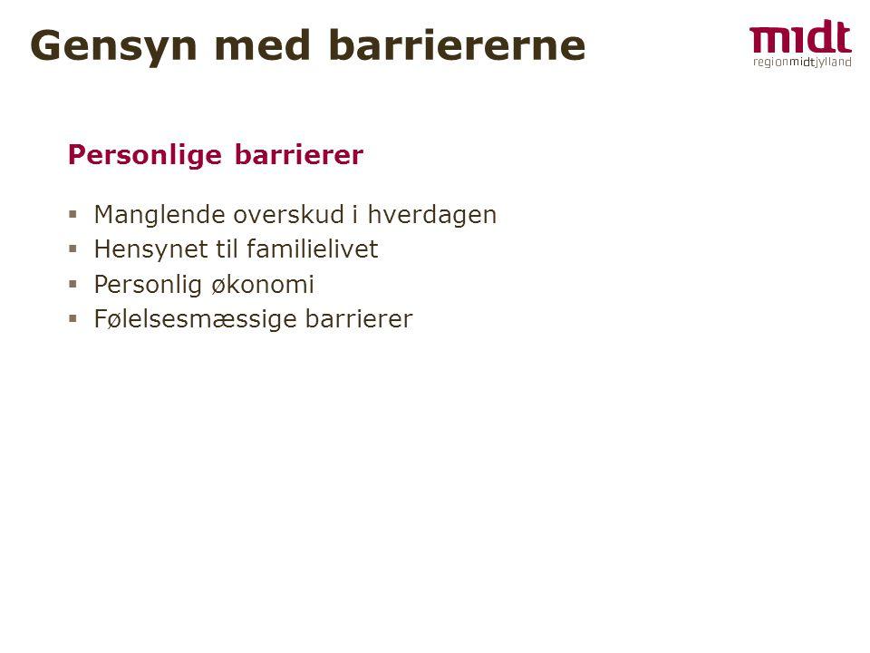 Gensyn med barriererne