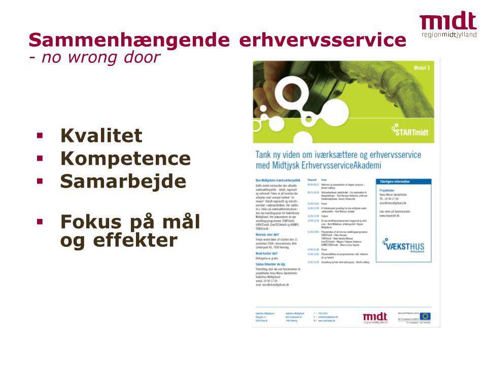 Sammenhængende erhvervsservice - no wrong door